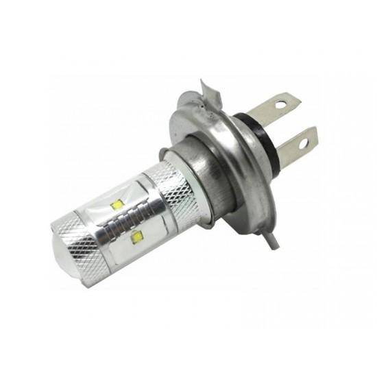 CREE LED 12-24V s päticou H4, 30W (6x5W) biela