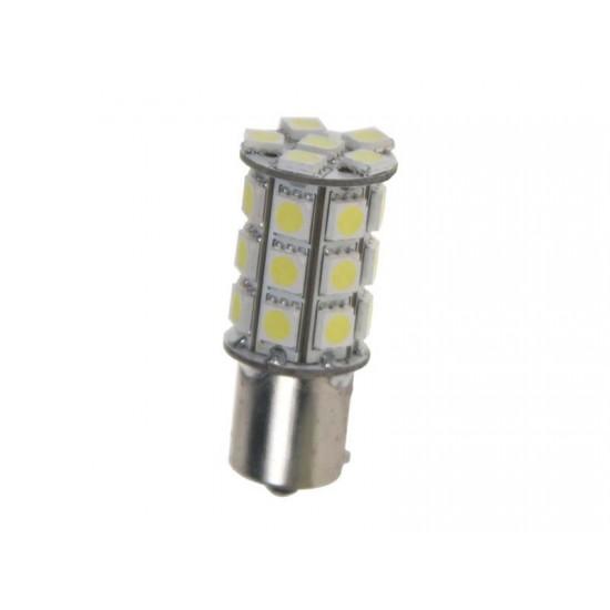 LED žiarovka 12V s päticou BAU15S biela, 27LED 3SMD 95123