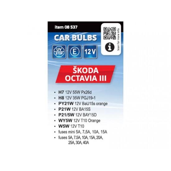 Žiarovky servisný box ŠKODA OCTAVIA III H7+H8