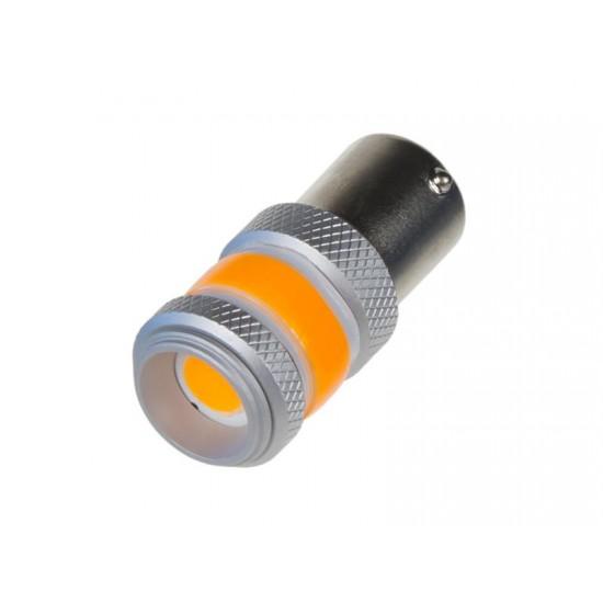 Autožiarovka LED BAU15s 9-60V 12W STU oranžová