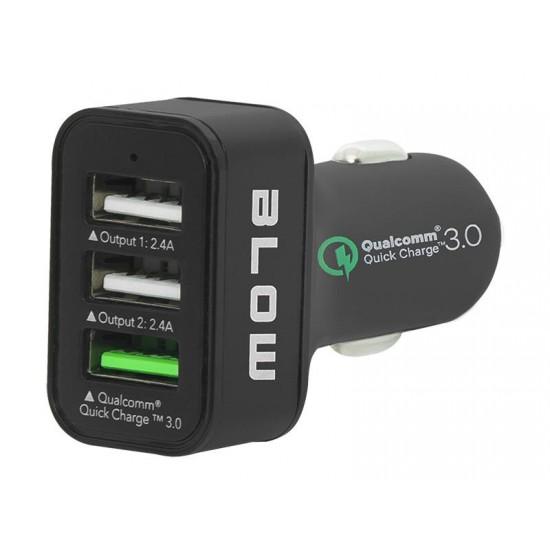 Nabíjačka do auta BLOW QUALCOMM 3.0 USB 3x 2.4A
