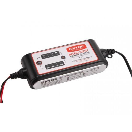 Nabíjačka autobatérií EXTOL 6 / 12V-4A 9 stupňová s mikroprocesorom