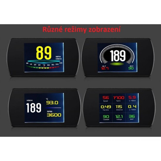 Palubný DISPLEJ 3 LCD, OBDII, FULL