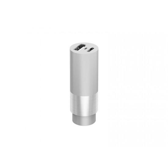 Autoadaptér CAR CHARGER ILLUMINATED 1x USB 2400 mAh + 1x USB-C 3000 mAh GREY