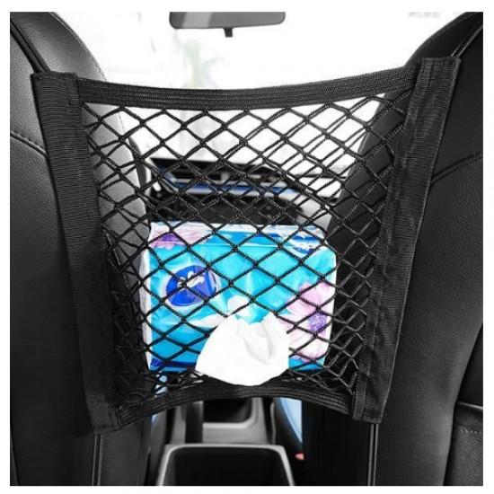 Sieť do auta medzi sedačky pružná 28 x 26 cm
