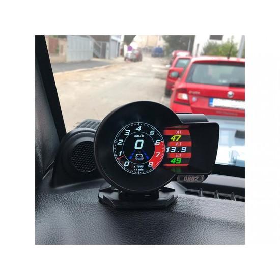 Palubný DISPLEJ SPORT LCD, OBDII, FULL