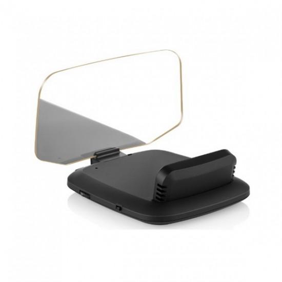 Palubný HEAD UP DISPLEJ 4 / TFT LCD, OBDII + GPS, reflexná doska
