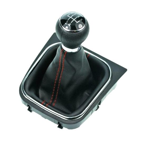 Radiaca páka s manžetou VW GOLF V 2003 - 2008 5st Black/Red
