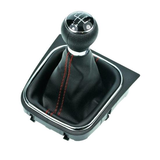 Radiaca páka s manžetou VW GOLF VI 2008 - 2012 5st Black/Red
