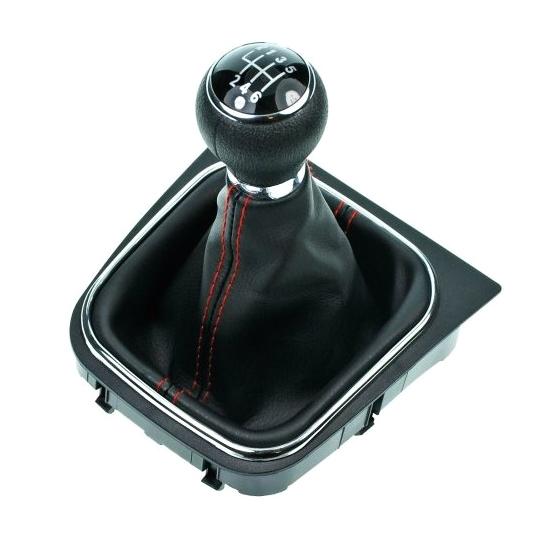 Radiaca páka s manžetou VW GOLF VI 2008 - 2012 6st Black/Red