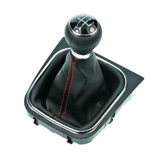 Radiaca páka s manžetou VW GOLF V PLUS 2005 - 2008 5st Black/Red
