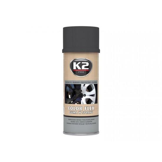 Kaučuk syntetický K2 Color Flex 400ml, čierny matný