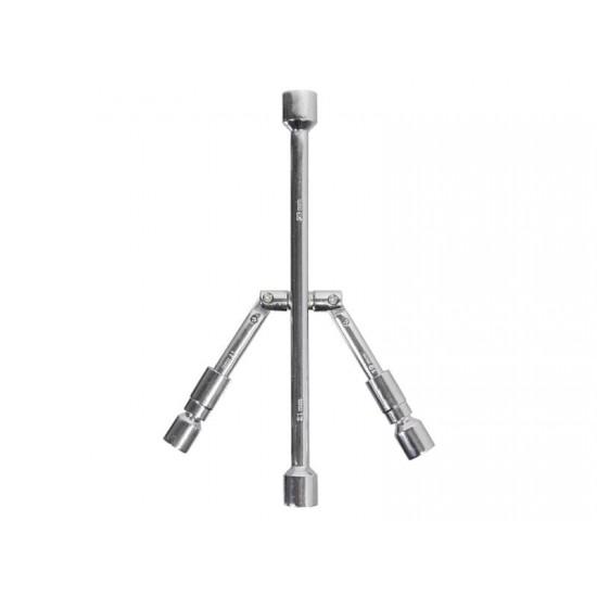 Kľúč na kolesá 17-19/21-23 mm TÜV, GS skladací