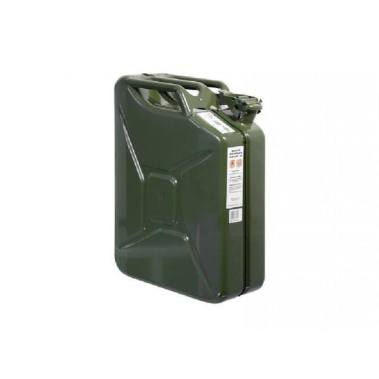 Kanister ocelový na pohonné hmoty 20l zelený