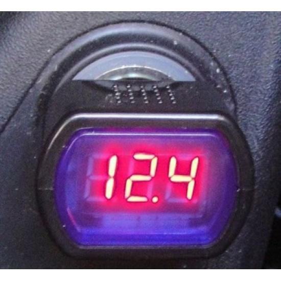 Voltmeter do auta, rozsah 8-30V, montáž do auto zásuvky