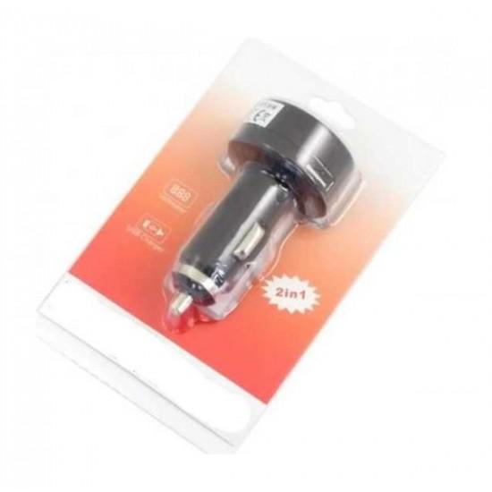 Voltmeter do auta s nabíjačkou USB (5V/2,1A), rozsah merania 8-30V