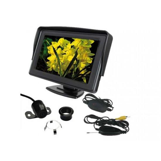 Parkovací systém bezdrôtový set STU CW2 kamera s 4,3 displejom