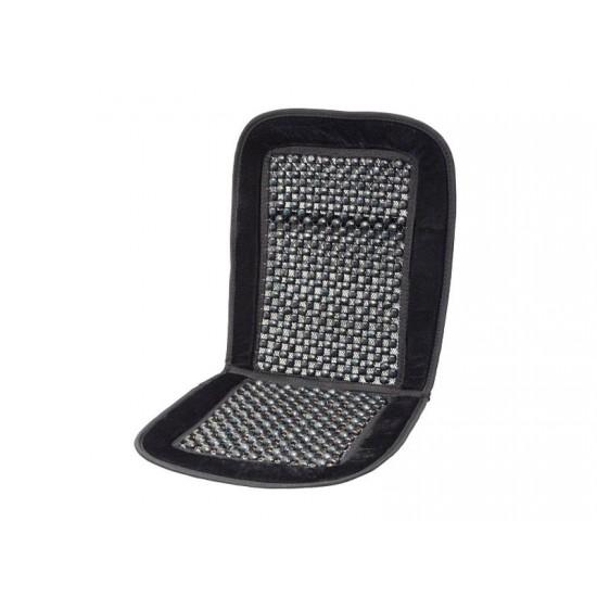 Poťah sedadla guličkový s lemom čierny 93x40cm