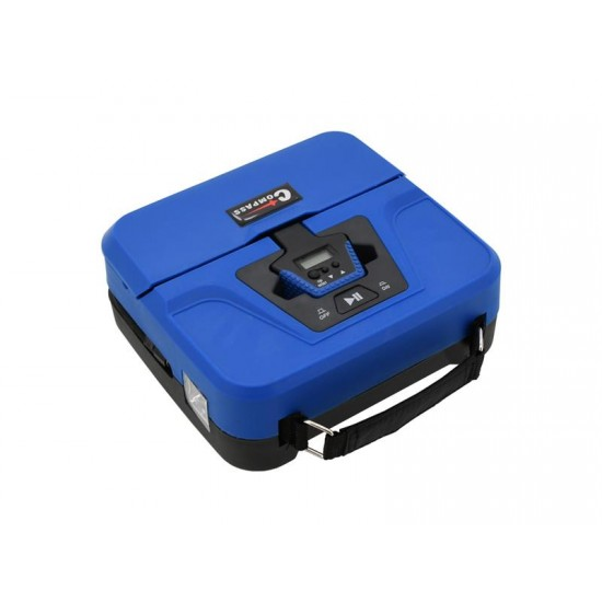 Kompresor 12V BOX digitálny 3in1