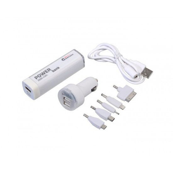 Nabíjačka telefonu 12V 2,1A (iPhone 4/5/6, micro USB, Nokia) + POWER BANK 2600mA